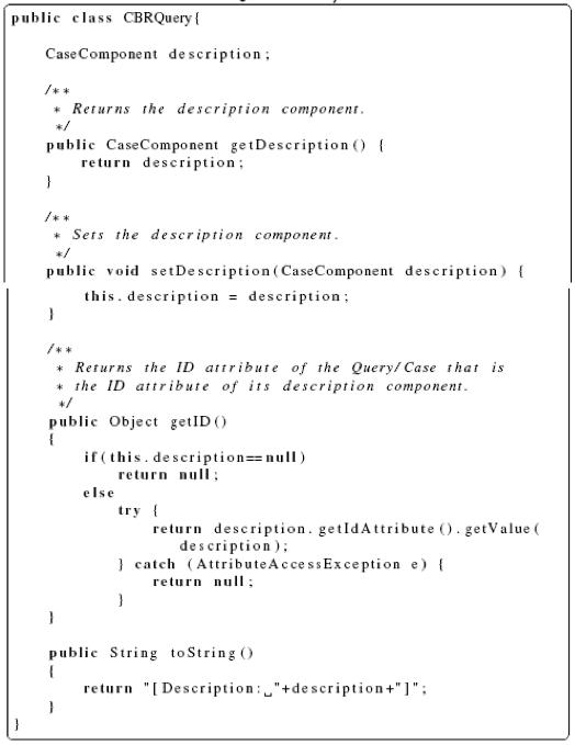 jCOLIBRI Framework CBRQuery