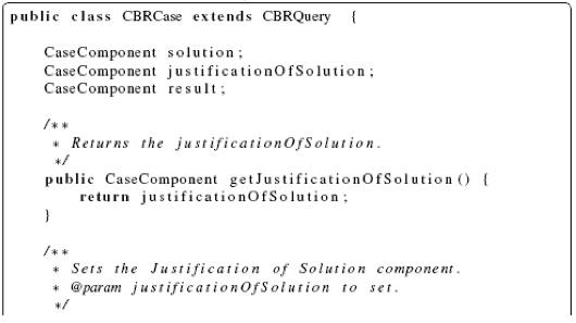 jCOLIBRI Framework CBRCase