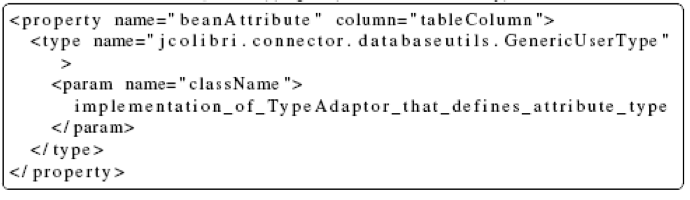 jCOLIBRI Framework GenericUserType