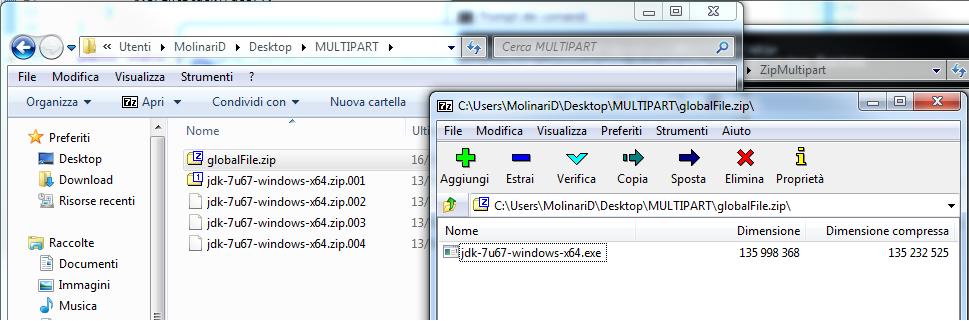 zip multipart riassemblato