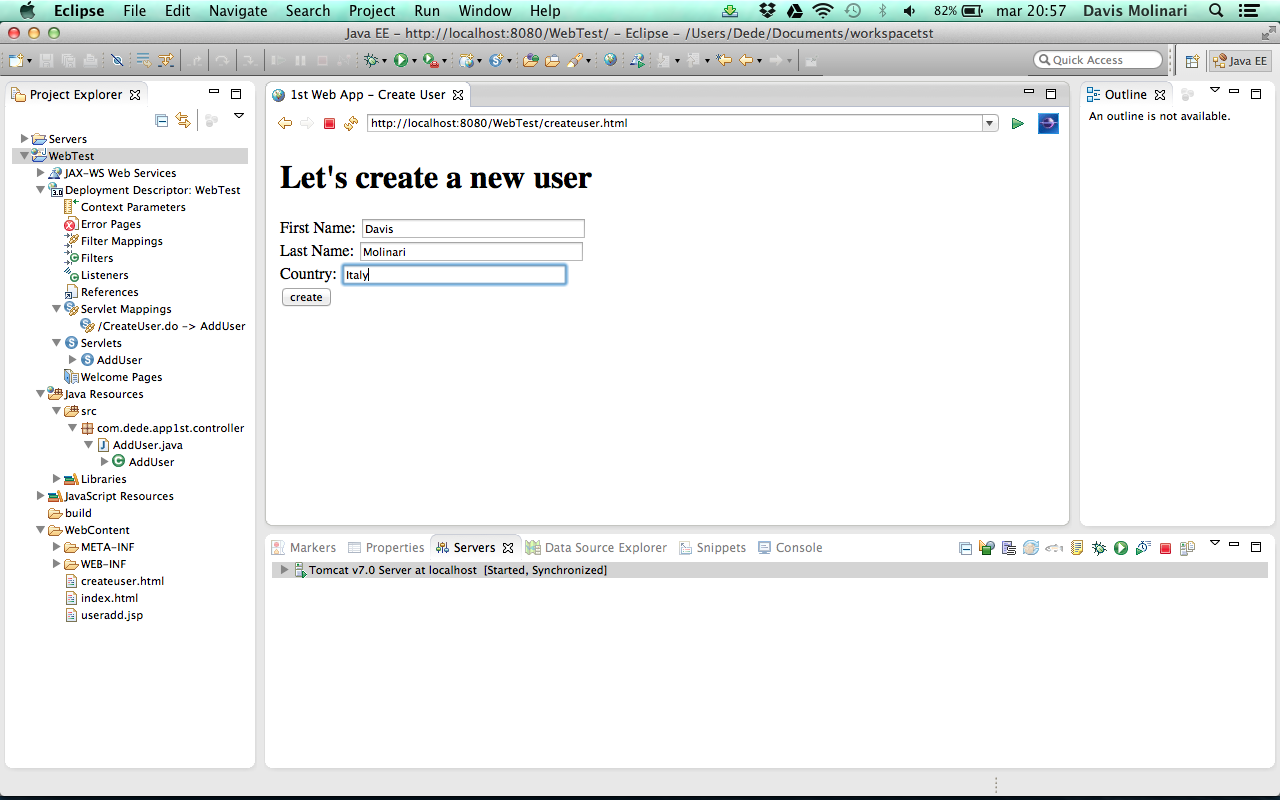 How to create a web application from scratch with Java
