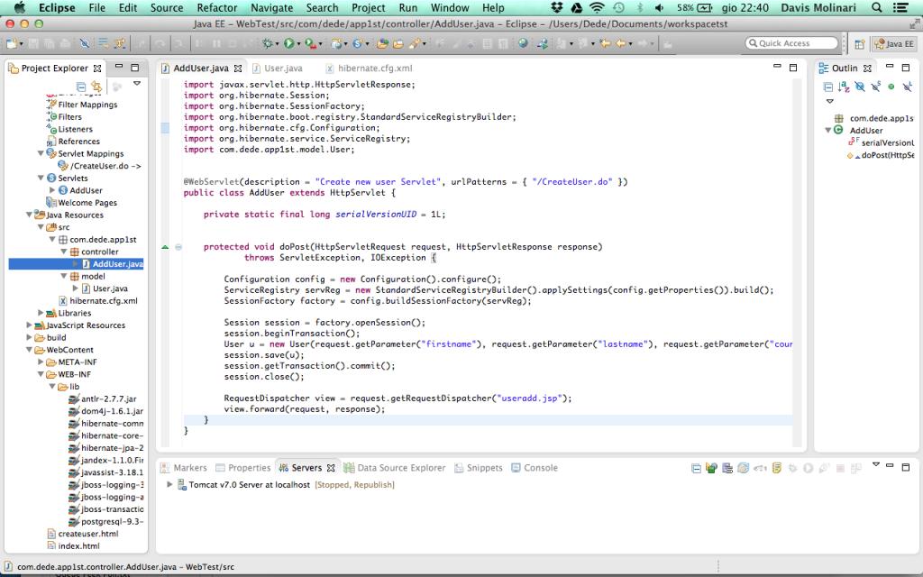 Hibernate transaction in servlet doPost()