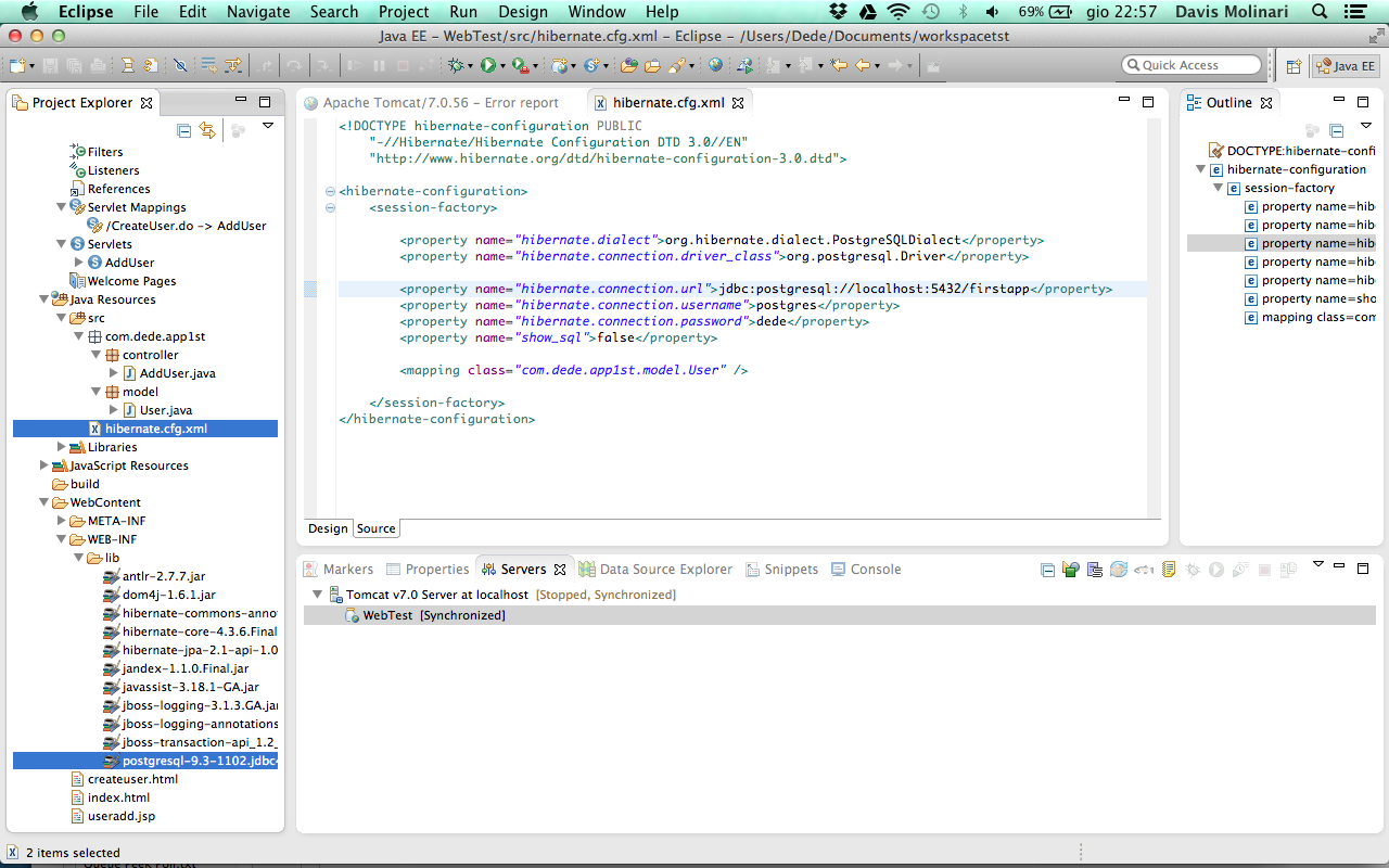 how to create web application in eclipse using tomcat
