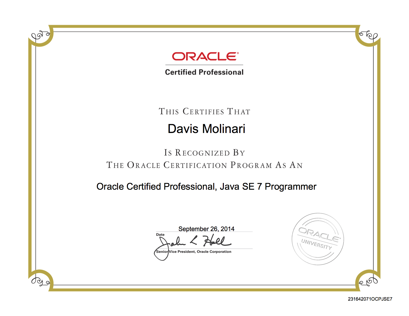 Im An Oracle Certified Professional Java Se7 Programmer Ii Now