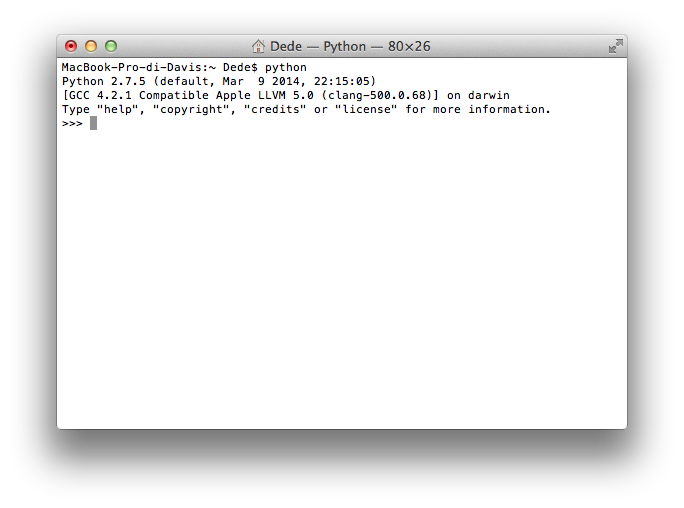Python 2.X prompt