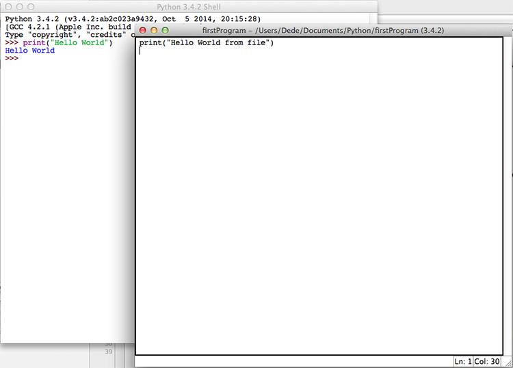 IDLE creating a Python module
