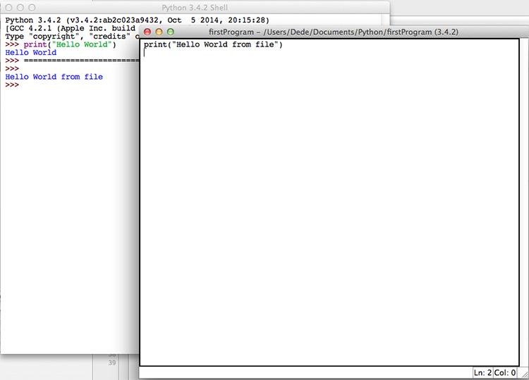 IDLE executing Python module