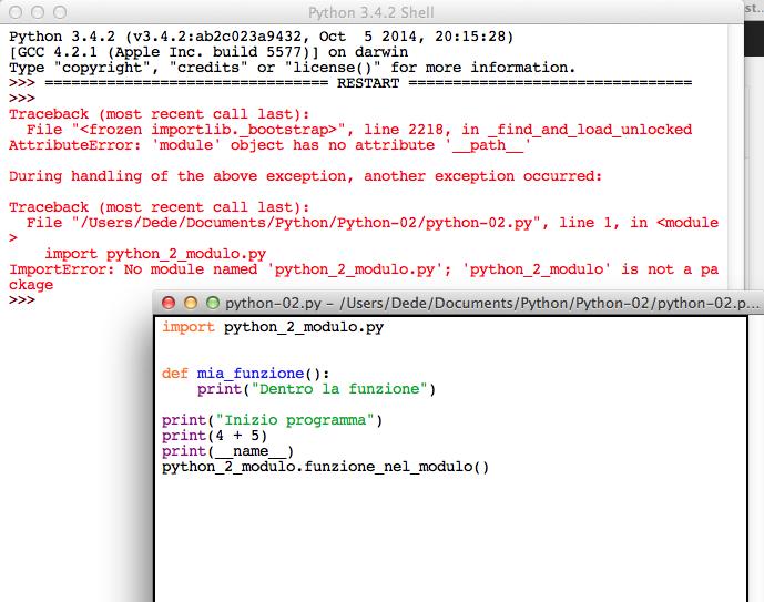 Python module import error