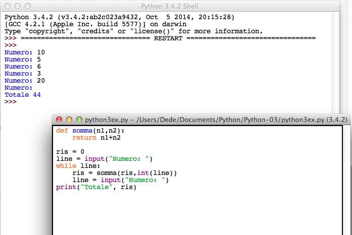 Python input while