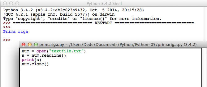 Python open file readline