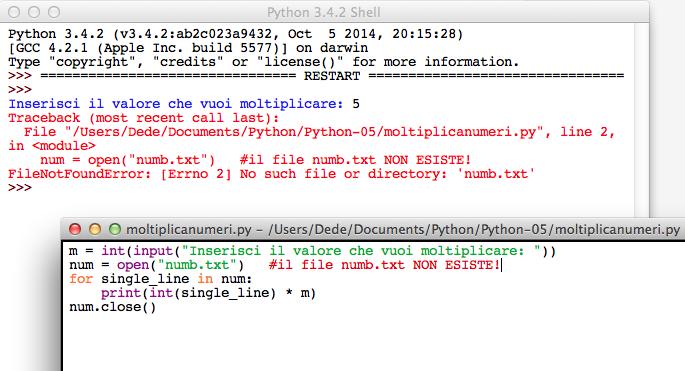 Python open file FileNotFoundError