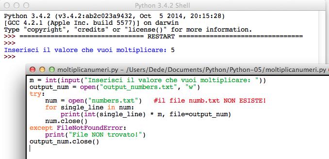 SPython open file w mode
