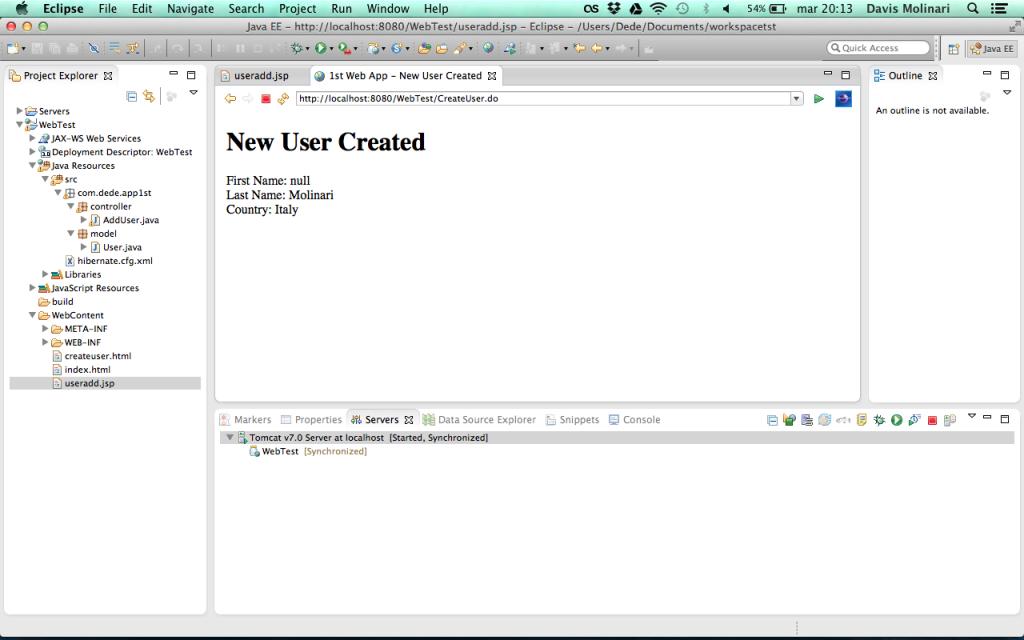 Web Application null parameter value