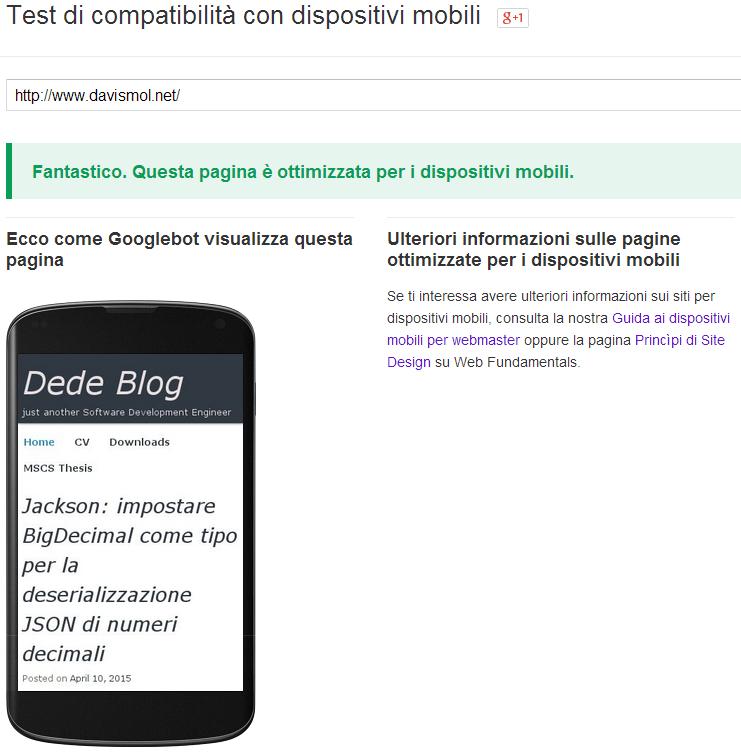 davismol.net mobile friendly for Google
