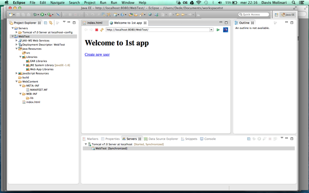 Web application first run