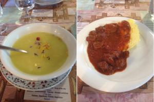 La cena al Rifugio Rosetta-Pedrotti