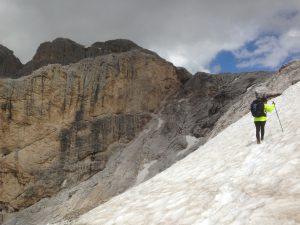 Attraversamenti sulla neve verso il Rifugio Rosetta Pedrotti