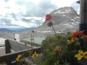 Cima Rosetta dalla finestra del rifugio Rosetta-Pedrotti