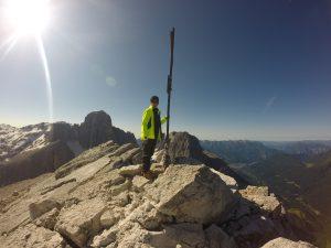 La croce sulla vetta di Cima Rosetta