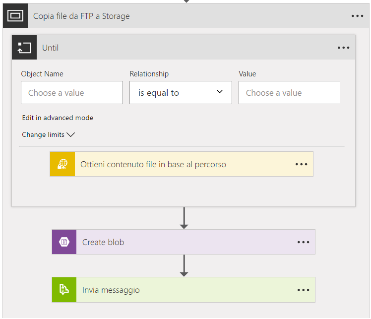 Azure Logic App ciclo Do Until