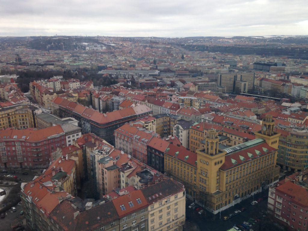 Praga vista città dalla Torre della Televisione