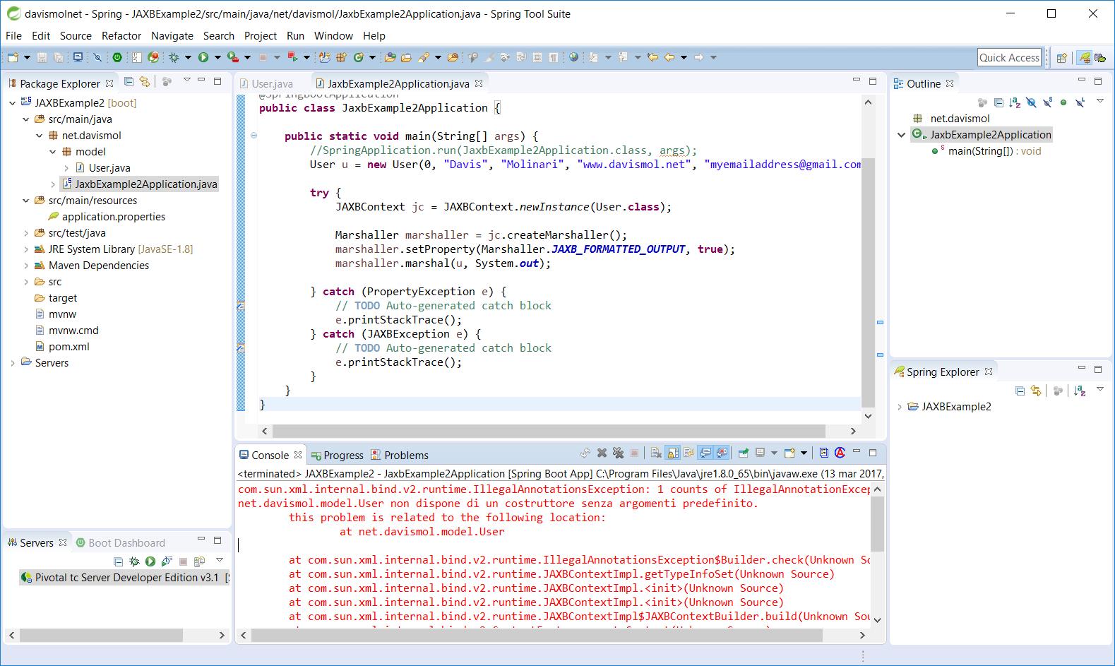 Jaxb Java No Args Constructor Missing Error