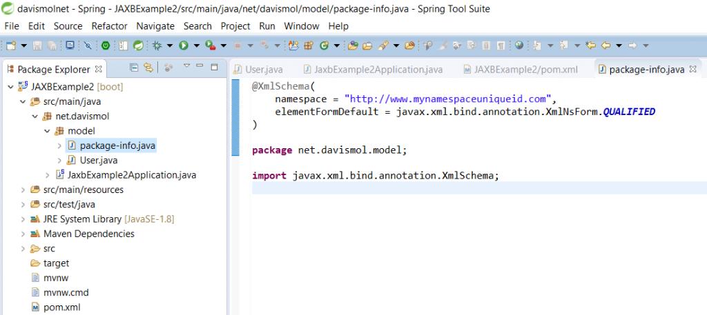 JAXB XMLSchema annotation example
