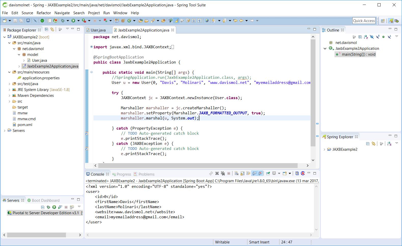 Jaxb Xml Marshalling Of A Java Object