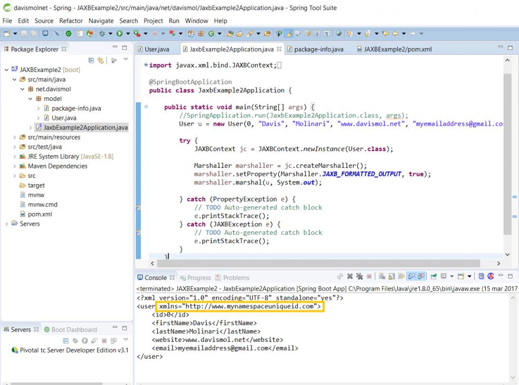 JAXB XML namespace marshalling