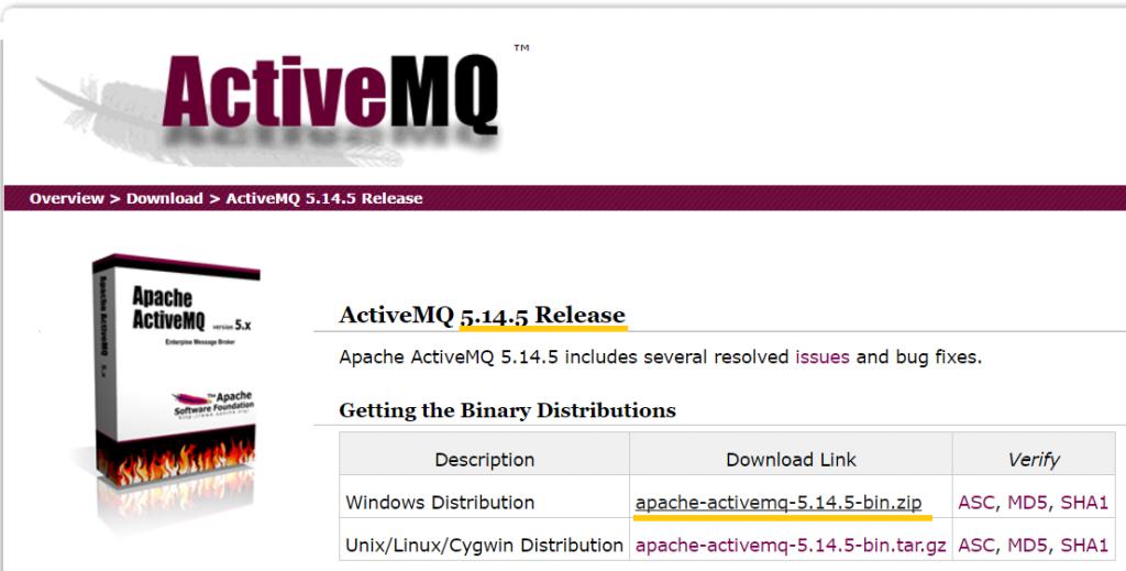 CamelJMStoFile 06 - Download Apache ActiveMQ