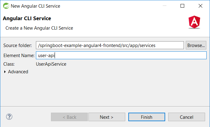 50 - Spring Tool Suite Angular CLI create new Service