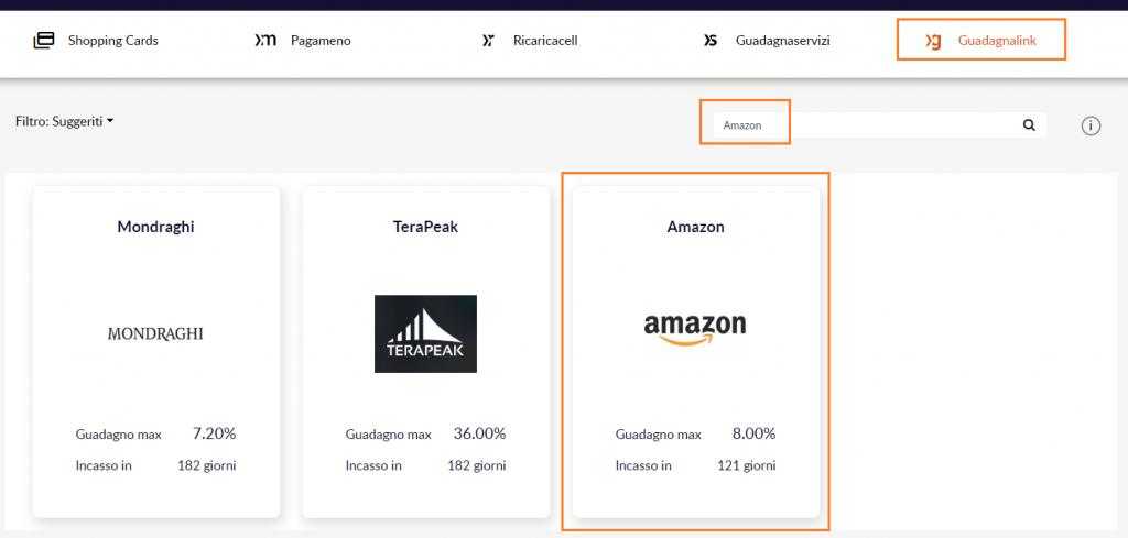 SixthContinent Amazon GuadagnaLink ricerca